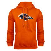 Orange Fleece Hood-Roadrunner Head