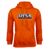 Orange Fleece Hood-UTSA Roadrunners Stacked