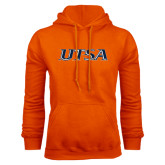 Orange Fleece Hood-UTSA