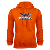 Orange Fleece Hood-Runners Athletics