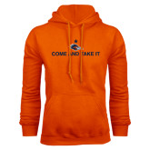 Orange Fleece Hoodie-Come and Take It Flat