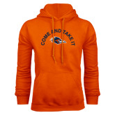 Orange Fleece Hoodie-Come and Take It Arched