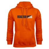 Orange Fleece Hood-Roadrunners Two Tone Diagonal