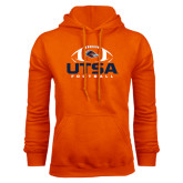 Orange Fleece Hood-UTSA Football Stacked w/ Ball