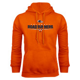 Orange Fleece Hood-Roadrunners Football Underline