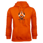 Orange Fleece Hood-Roadrunners Football Vertical