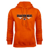 Orange Fleece Hood-Roadrunners Football Horizontal