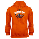 Orange Fleece Hood-Roadrunners Basketball Arched
