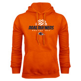 Orange Fleece Hood-Roadrunners Volleyball Geometric Ball