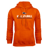 Orange Fleece Hood-Volleyball Bar