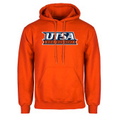 Orange Fleece Hoodie-UTSA Roadrunners Stacked