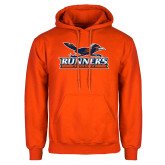 Orange Fleece Hoodie-Runners Athletics