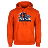 Orange Fleece Hoodie-Soccer