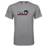 Grey T Shirt-UTSA Roadrunners w/ Head Flat