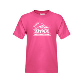 Youth Fuchsia T-Shirt-Primary Logo