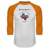 White/Orange Raglan Baseball T Shirt-Baseball SAS