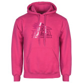 Fuchsia Fleece Hood-Primary Logo Foil