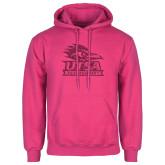 Fuchsia Fleece Hood-Primary Logo Pink Glitter