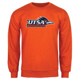 Orange Fleece Crew-UTSA Roadrunners w/ Head Flat