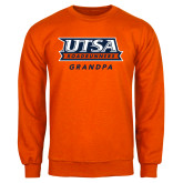 Orange Fleece Crew-Grandpa