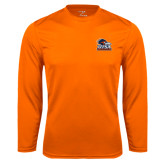 Syntrel Performance Orange Longsleeve Shirt-Primary Logo