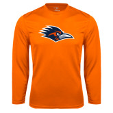 Performance Orange Longsleeve Shirt-Roadrunner Head