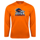 Performance Orange Longsleeve Shirt-Football