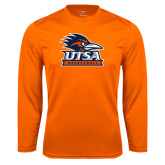 Performance Orange Longsleeve Shirt-Basketball