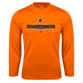 Syntrel Performance Orange Longsleeve Shirt-Roadrunners Football Underline
