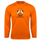 Performance Orange Longsleeve Shirt-Roadrunners Football Vertical