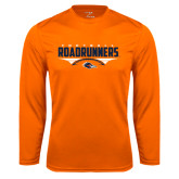 Syntrel Performance Orange Longsleeve Shirt-Roadrunners Football Horizontal