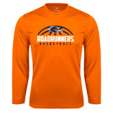 Syntrel Performance Orange Longsleeve Shirt-Roadrunners Basketball Half Ball