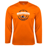 Performance Orange Longsleeve Shirt-Roadrunners Basketball Arched
