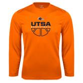 Syntrel Performance Orange Longsleeve Shirt-UTSA Basketball Half Ball