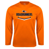 Syntrel Performance Orange Longsleeve Shirt-Roadrunners Baseball Plate