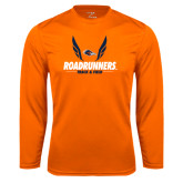 Performance Orange Longsleeve Shirt-Roadrunners Track & Field Wings