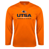 Syntrel Performance Orange Longsleeve Shirt-UTSA Track & Field