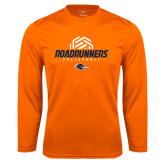 Syntrel Performance Orange Longsleeve Shirt-Roadrunners Volleyball Geometric Ball