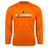 Syntrel Performance Orange Longsleeve Shirt-Volleyball Bar
