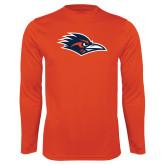 Performance Orange Longsleeve Shirt-Roadrunner Head