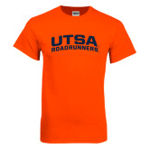 Orange T Shirt-Arched UTSA Roadrunners