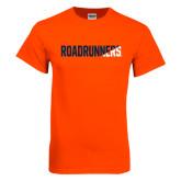 Orange T Shirt-Roadrunners Two Tone Diagonal