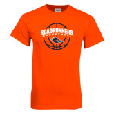Orange T Shirt-Roadrunners Basketball Arched