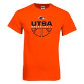 Orange T Shirt-UTSA Basketball Half Ball