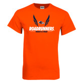 Orange T Shirt-Roadrunners Track & Field Wings