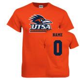Orange T Shirt-Primary Logo, Custom Tee w/ Name and #