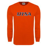Orange Long Sleeve T Shirt-UTSA