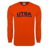 Orange Long Sleeve T Shirt-Arched UTSA Roadrunners