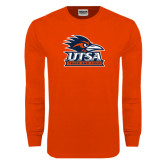Orange Long Sleeve T Shirt-Track & Field