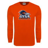Orange Long Sleeve T Shirt-Volleyball